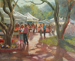 Market Morning painting by Michele Byrne