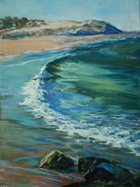 """Henlopen Wave,"" oil painting by Jim Rehak"