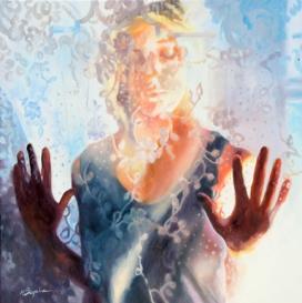 Margaret Bayalis painting - Emerging