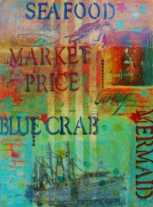 """Market Price,"" mixed media by Teri Causey"
