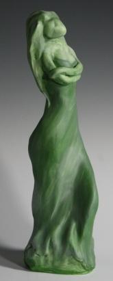 pottery sculpture of a woman by Matt Storey