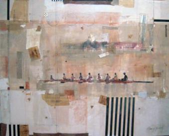Rower Series collage by Nancy Barch