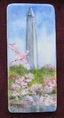 miniature painting of Washington Monument by Nar Steel