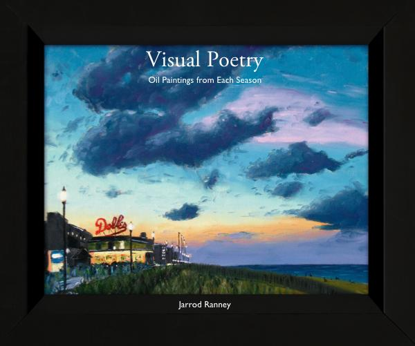 The cover of Jarrod Ranney's book - Visual Poetry.