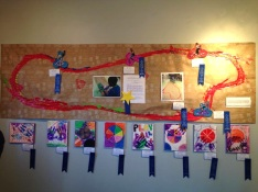 Artwork from the Burton Village After School Program
