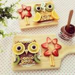 food art owls