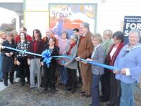 Ribbon Cutting Ceremony, 2-14-14, artwork by Aina Nergaard-Nammack