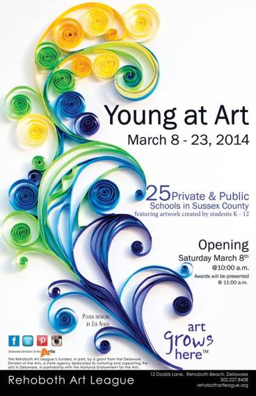 Young At Art Exhibition Poster